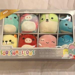 Squishmallows new  holiday plush ornaments set set 8